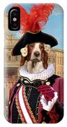 Irish Red And White Setter Art Canvas Print IPhone Case