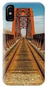 Iron Railroad Bridge Over Water, Texas IPhone Case