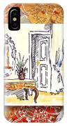 Italy Sketches Venice Hotel IPhone Case