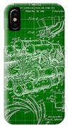 Jet Engine Patent 1941 - Green IPhone Case