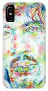 Jimi Hendrix Watercolor Portrait.1 IPhone Case