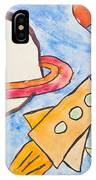 Kid's Painting Of Universe With Planets And Stars IPhone Case