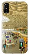 Kings Cross Railway Station London  IPhone Case