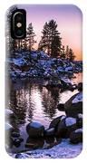 Lake Tahoe Winter Sunset IPhone Case