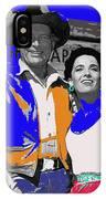 Leif Erickson Linda Cristal The High Chaparral Set Publicity Photo Old Tucson Arizona C. 1967-2012 IPhone Case