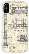 Les Paul Guitar Patent 1953 - Vintage IPhone Case