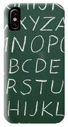 Letters On A Chalkboard IPhone Case