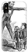 Lincoln Cartoon, 1865 IPhone Case