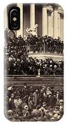 Lincoln's Inauguration, 1865 IPhone Case