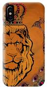 Lion And The Peacock IPhone Case
