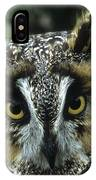 Long-eared Owl Up Close IPhone Case