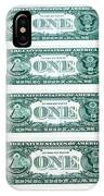 Many One Dollar Bills Side By Side IPhone Case