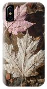 Maple Leaves In Water IPhone Case
