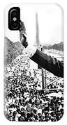 Martin Luther King The Great March On Washington Lincoln Memorial August 28 1963-2014 IPhone Case