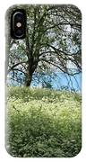 Meadow And Trees In Spring. Vitabergsparken, Stockholm, Sweden. IPhone Case
