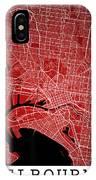 Melbourne Street Map - Melbourne Australia Road Map Art On Color IPhone Case