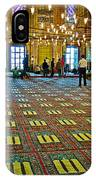 Men Inside The Blue Mosque In Istanbul-turkey IPhone Case