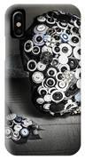 Modern Button Design Wedding Bouquet IPhone Case