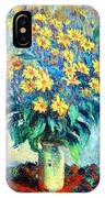 Monet's Jerusalem  Artichoke Flowers IPhone Case