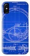 Monocycle Patent 1894 - Blue IPhone Case