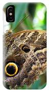 Mournful Owl Butterfly IPhone Case