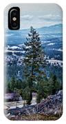 Mt Spokane IPhone Case