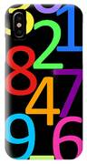 Multi-color Numbers IPhone Case