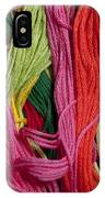Multicolored Embroidery Thread Mixed Up  IPhone Case
