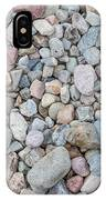 Natural Rock Pebble Backgorund IPhone Case