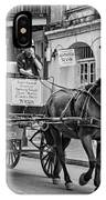 New Orleans - Carriage Ride Bw IPhone Case