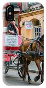 New Orleans - Carriage Ride IPhone Case