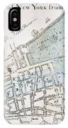 New York City Map, 1728 IPhone Case