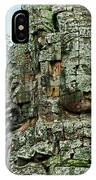 North Gate Of Angkor Thom In Angkor Wat Archeological Park-cambodia IPhone Case