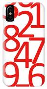 Numbers In Red And White IPhone Case