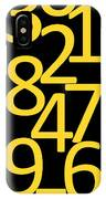 Numbers In Yellow And Black IPhone Case