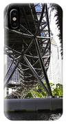 Oil Painting - View Under The Bayfront Bridge And Helix Bridge In Singapore IPhone Case