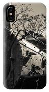 Old Black Locomotive Engine Details IPhone Case