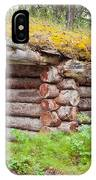 Old Traditional Log Cabin Rotting In Yukon Taiga IPhone Case
