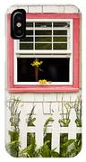 Open Window With Yellow Flower In Vase IPhone Case