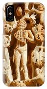 Ornately Sculpted Pillar At Leptis Magna In Libya IPhone Case