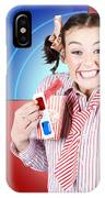 Overjoyed Nerd Woman At 3d Movie Premier IPhone Case