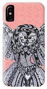 Owl In Flight Pink IPhone Case