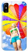 Parasailing On Summer Vacation IPhone Case