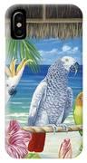 Parrots In Paradise IPhone Case
