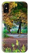 Pathway Through Colorful Forest In Fall Autumn IPhone Case