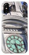 Philadelphia City Hall Clock IPhone Case