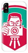 Photographer Shooting Camera Shield Retro IPhone Case