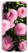 Pink Button Pom Flowers IPhone Case