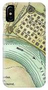 Plan Of New Orleans, 1798 IPhone Case