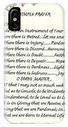 Pope Francis St. Francis Simple Prayer For Peace IPhone Case